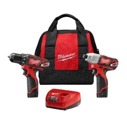 Drill Driver 3//8 in Hex Impact Driver 1//4in Combo Kit Cordless Power Tool Li-ion