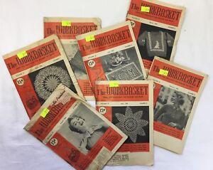 Vtg-Lot-7-Issues-The-Workbasket-Magazine-Volume-19-Feb-Aug-1954-Crochet-Craft