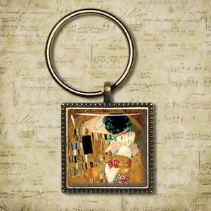 Image is loading Gustav-Klimt-Keyring-THE-KISS-Gustav-Klimt-Handmade-