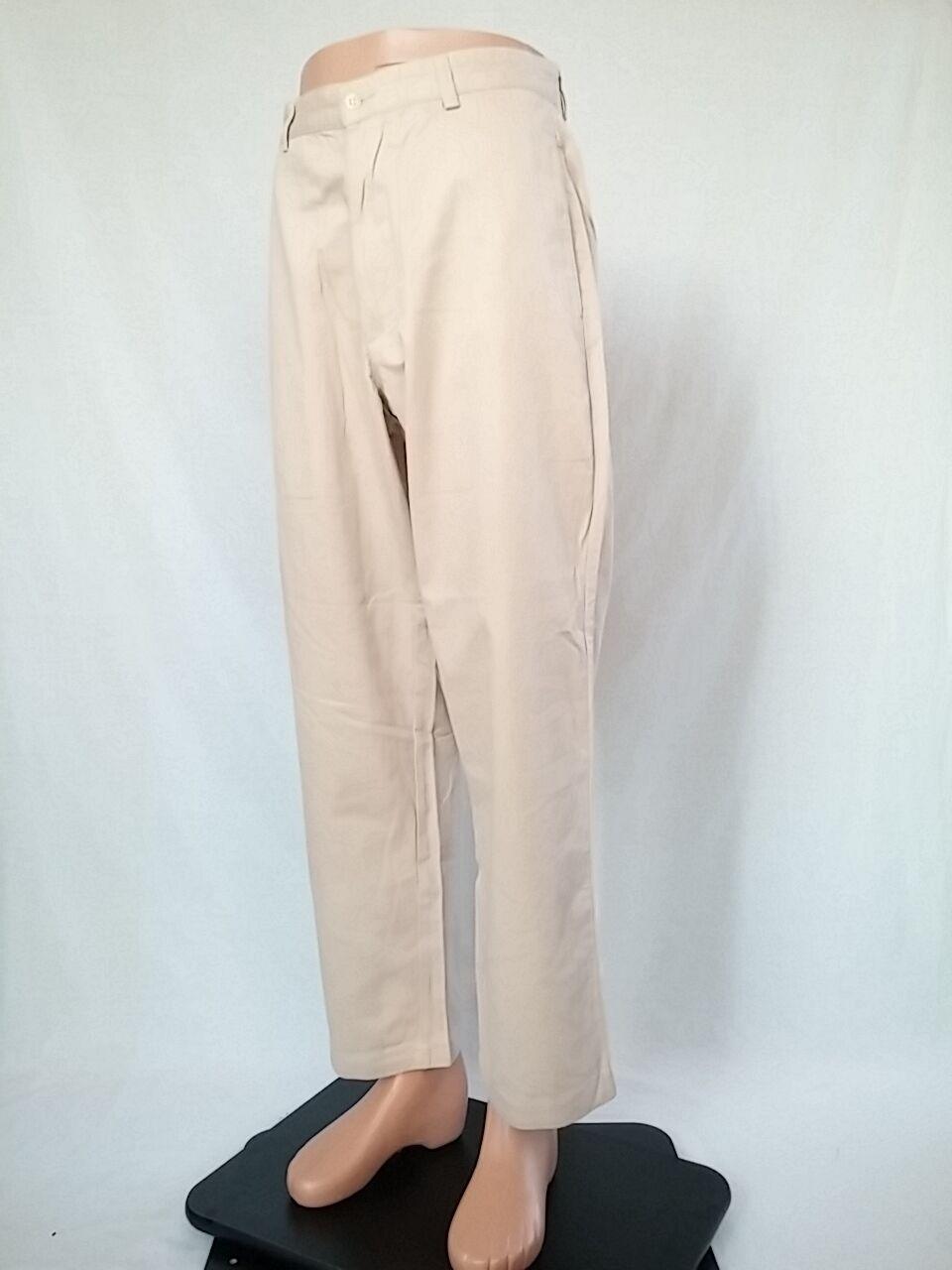 RALPH LAUREN Men's Beige Casual Vtg Retro Striped Trousers Pants sz 31x30 AR10