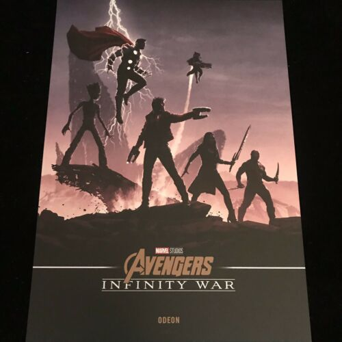 Marvel Avengers Infinity guerre cinéma poster RARE Gardiens de la galaxie /& Thor