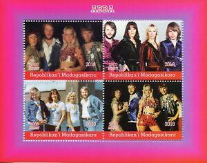 Madagascar-2018-CTO-ABBA-4-V-M-S-Music-Popstars-Celebrites-timbres