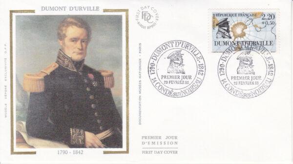 100% Vrai Enveloppe Maximum 1er Jour Fdc Soie 1988 - Les Marins Célèbres Dumont D'urville Construction Robuste