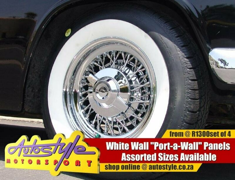 White Wall Port A Wall Panels for 13, 14 15 inch Tyres from R1050 set of 4 - sold as a set of 4 - fi