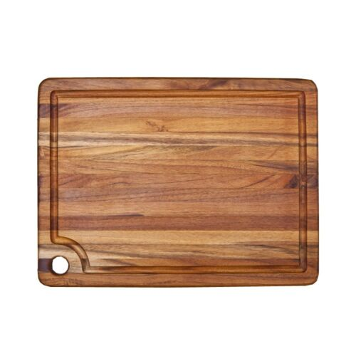"""Teakhaus by Proteak Cutting Board Marine Collection Rectangle Edge Grain 18/"""" X 1"""