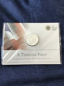 MINT CONDITION 2013 George and the Dragon UK £20 Coin, 999 Fine Silver
