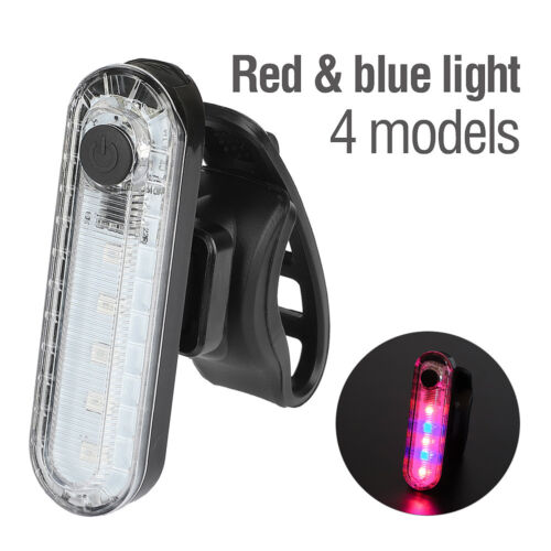 Waterproof USB Rechargeable Bike Bicycle Cycling Rear Tail Light 5 LED Back Lamp