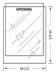 18-1/2 x 24-1/2 inch MYLAR Sleeve(s) 4mil no flap