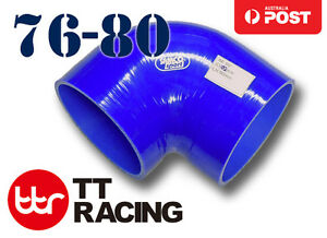 Silicone-Joiner-90-Degree-Bend-Reducer-Elbow-Hose-Pipe-76mm-80mm-3-034-3-15-034-Blue