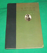 1919 THE WISDOM OF SOLOMON BAKER STORE KEEPER HATCH'S CAPE HARBOR BOSTON MA BOOK