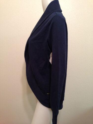Classy Urban Preppy Navy Element Blue Sweater Open Nwt Cardigan Boho Medium Mod TU7nSxp