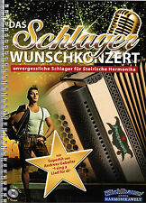 Steirische Harmonika Noten : Das Schlager Wunschkonzert m CD Griffschrift LEICHT