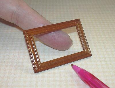 Miniature Handsome Rectangular Picture Frame WALNUT  DOLLHOUSE Miniatures 1/12