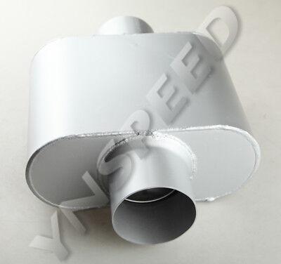 "Center Exhaust Oval Single Chamber Muffler Silencer US 2.5/"" Center"
