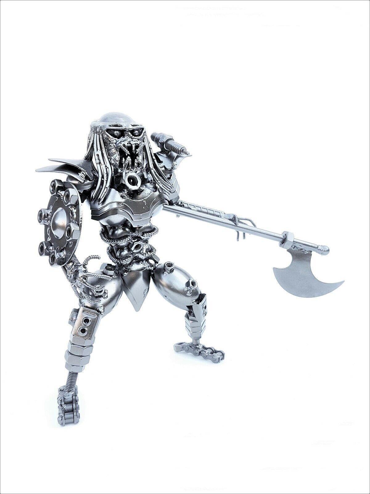 Protator Mask Off 30cm Axe & Shield Figure Metal Art Productions Sculpture