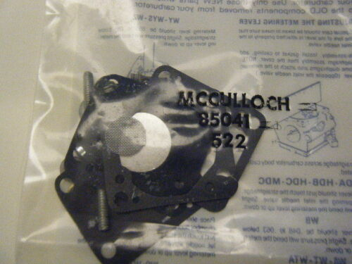 NEW MCCULLOCH CARB KIT PN 85041
