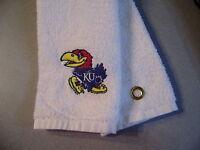 Free Personalizing Machine Embroidered Ku Jayhawk Golf Towel