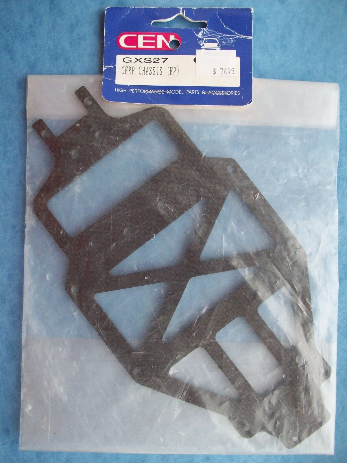 VINTAGE CEN 27 VERY RARE CFRP CHASSIS EP GXS27 NIP