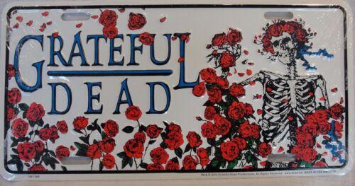 BERTHA GRATEFUL DEAD SKULL AND ROSES LICENSE PLATE