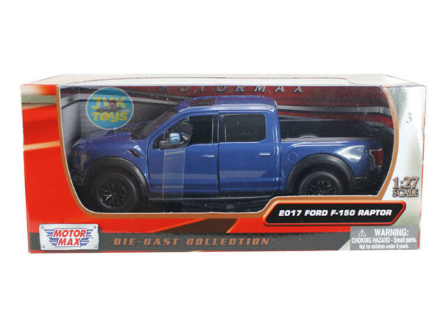 2017 Ford F-150 Raptor Truck Blue 1/24 Scale Diecast Model By Motor Max 79344