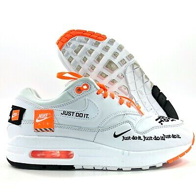 Nike WMNS Air Max 1 LX Just Do It White Black Orange 917691 100 Women's 8 | eBay