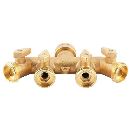 Details about  /Brass Garden 4-Way Hose Splitter Hose Adapter Ball Valve Water Faucet Valve Home
