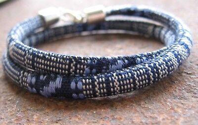 Clever Ethno Armband Blau Grau Neu Bunt Herren Damen Surfer Wickel Bracelet Südamerika Einen Einzigartigen Nationalen Stil Haben