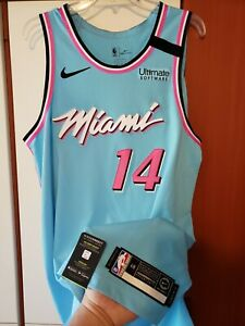 Tyler Herro 2019 20 Miami Heat Nike Vice City Ed Rookie Authentic Jersey Sz 48 Ebay
