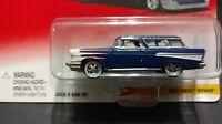 Johnny Lightning Thunder Wagons 1957 Chevy Nomad Blue & White Wagon 1:64 Diecast
