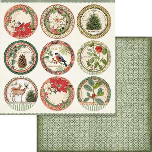 "Stamperia Winter Botanic 1x Double-Sided Cardstock 12/"" Scrappapier 30,5x30,5cm"