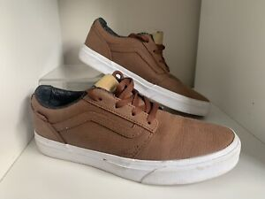 Vans Old Skool Trainers Pumps Lo Lace Brown Leather  Casual UK 6 EU 39