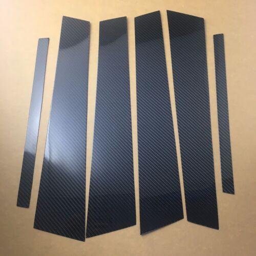 Car Exterior Carbon Fiber Window Pillar Posts Trim Slim Cover Stick For BMW F30