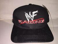 Vtg Wwf Racing Strapback Hat Cap Rare 90s Wwe Wrestling Wrestlemania The Rock