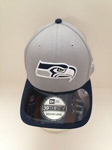 91754ccf9 Seattle Seahawks New ERA 39Thirty 2015 Training camp Stretch fit hat ...
