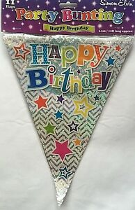 Happy-Birthday-Holographic-Party-Bunting-Pennent-11-Flags-Birthday-Party