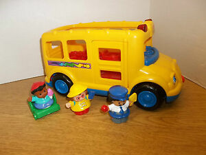 3 fisher price little people school bus musical sounds lights toddler toy set ebay. Black Bedroom Furniture Sets. Home Design Ideas