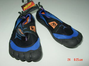 NWT Boys Girls Unisex Nerf Water Shoes Blue Orange New Summer ...
