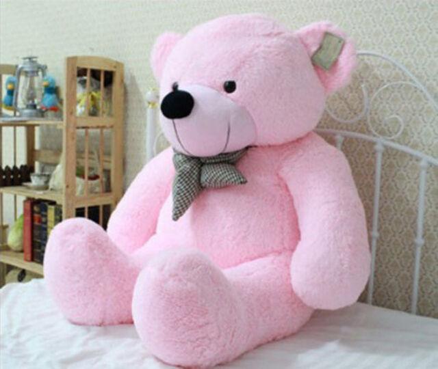 Lovely Stuffed Giant 95CM Big Pink Plush Teddy Bear Huge Soft 100% Cotton Doll