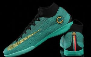 a21878d71e76 Nike Mercurial SuperflyX 6 Academy CR7 IC - Clear Jade   Gold ...