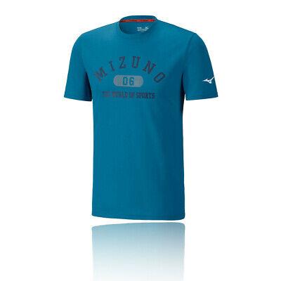 Mizuno Homme Heritage 1906 Running T Shirt Tee Top Noir Sport Respirant