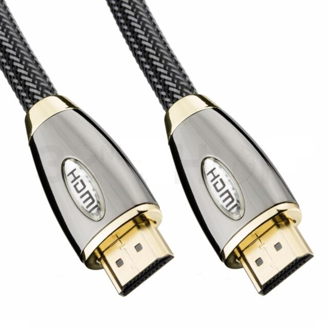 1m-10m High Speed HDMI CablePremium Gold Ethernet Ultra HD 2160p 3D HDTV LCD PS3