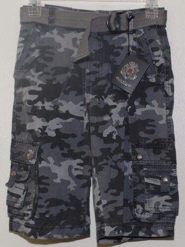 English Laundry Cargo Shorts w Belt Boy/'s Size 6 Grey Camo NWT $48
