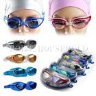 Adult Eye Protect Non-Fogging Anti UV Swimming Swim Goggle Glasses Adjustable