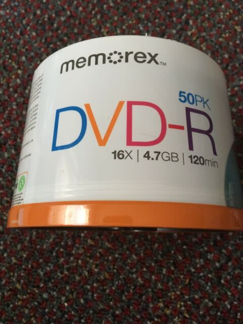 NEW  Memorex 4.7GB 16X 120Min DVD-R 50-Pack Spindle