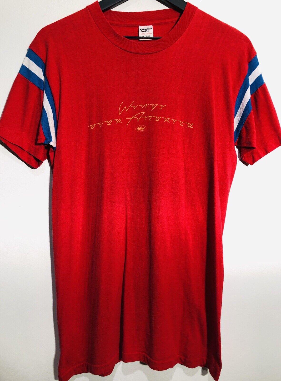 Wings Over America 1976 Paul McCartney Capitol Records Vintage T-hemd hemd