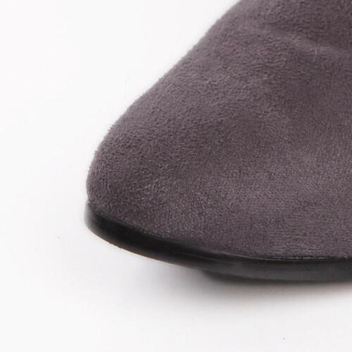 Women/'s slim en daim synthétique Chaton Talons Hauts Cuissardes Stretch Chaud Bottes Hautes