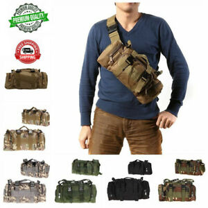 Outdoor Military Tactical Waist Pack Molle Camping Hiking Pouch Bag Handbag Tote