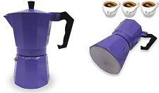 Espresso Stove top olla cafetera Continental Moka Cafetera De Filtro 3 Taza púrpura