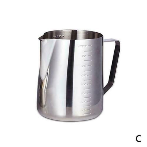 Edelstahl Milchschaumkrug Milchschaumbecher Kaffeemaschine Krug O7T2