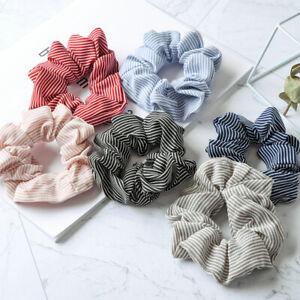 Stylish-Floral-Hair-Scrunchies-Bun-Ring-Elastic-Fashion-Sports-Dance-Scrunchie